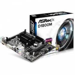 Placa Mae c/Processador Integrada suporta Mem. Dimm D1800M/M/CXD Asrock