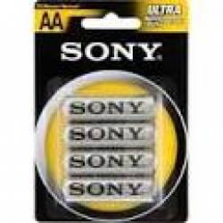 Pilha Sony AA 2A c/4ud Zinco
