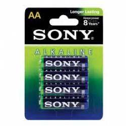 Pilha Sony AA 2A c/4ud Alcalina
