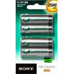 Pilha AA Recarregavel 2A c/4ud 2500mah Sony