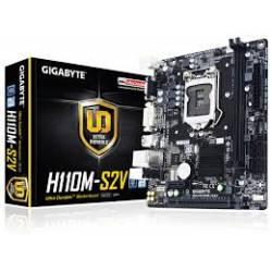 Placa Mae s1151 GigaByte Ga-H110M-S2V DDR4 VGA, DVI  DDR4 Até 32Gb Lga1151 Gygabyte