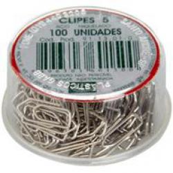 Clips 0/5 Mini c/100ud Prata