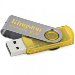 Pen-Drive 8gb Amarelo Kingston 3*
