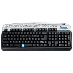 Teclado Ps2 OFF c/Usb Preto/Prata Cn09121