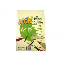 Papel A4  75g 100fls Sulf Nick Amarelo