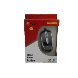 Mouse Ps2 Optico Preto/Prata FxL353
