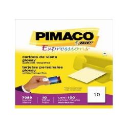 Cartao de Visita  10fls P7089 Bco Pimaco