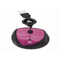 Mouse Usb Optico Rosa Retratil xCn06298