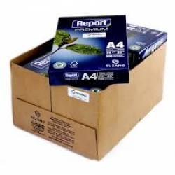 Papel A4  75g caixa c/10 Resma c/ 500fls cada Premium Branco REPORT