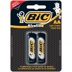 Pilha AA Alcalina 2uds Alcalina Bic