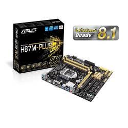 Placa Mãe p/INTEL s1150 Asus H87M-PLUS BOX