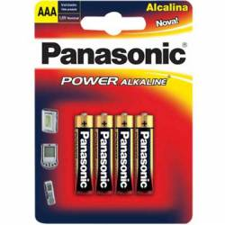 Pilha AAA 4A Alcalina 4uds Panasonic