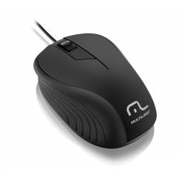Mouse Usb Optico Preto Emborrachado mLtMO222 Multilaser
