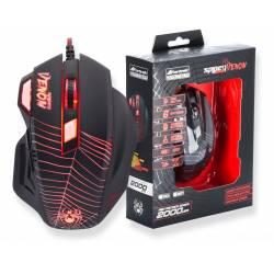 Mouse Usb Optico Gamer  Venom OM704 Preto Fortrek