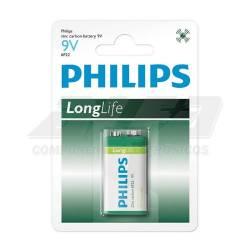 Bateria 9v Pilha Long Life  Philips