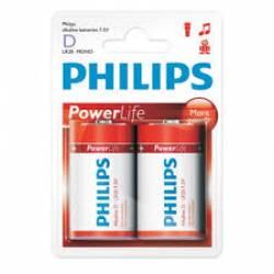 Pilha D Grande Alcalina 2uds caixa c/ 24 Philips