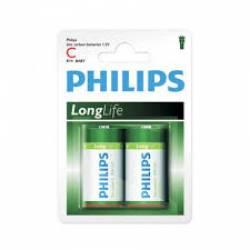 Pilha C Media Long Life c/ 2uds Pilhips