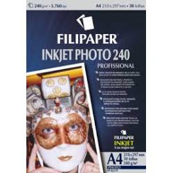 Papel Glossy Photo Foto A4 c/ 10fls 240g Filipaper