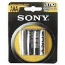 Pilha Sony AAA 3A  c/4ud Zinco