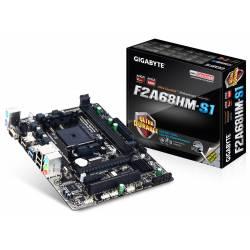 Placa Mãe p/AMD FM2 Gigabyte F2A68HM-S1 c/VGA DDR3 Omboard Box