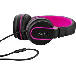 Fone de Ouvido c/Microfone Pulse Fun Series Preto-Rosa mLtPH160 Multilaser