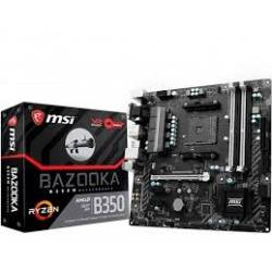 Placa Mãe p/AMD AM4 Ryzen B350m DDR4 Bazooka-La MSI Box