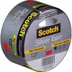 Fita Adesiva Demarcação Solo PVC Silver Tape 45x5 CinzaCimento 3M
