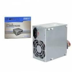 Fonte ATX 230W Real Transformador 220v ou 110v p/12v Hoop