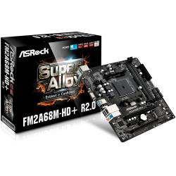Placa Mãe p/AMD FM2A68M-HD+R R2.0 DDR3 Asrok Box