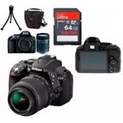 Câmera Nikon D5300 c/Lente 18-55mm + Sd 64gb + Bolsa +Tripé Box