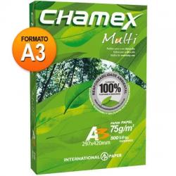 Papel A3 75g 500fls Bco Chamex