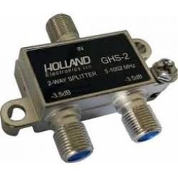 Adaptador Divisor Antena 1x2 Blindado para UHF, VHF, CATV Splitter