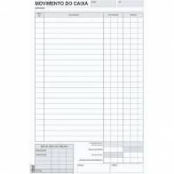 Caderno Bloco Movimento do Caixa 100fls 56gm