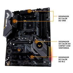 Placa Mãe p/AMD AM4 X570-Plus/BR TUF Gaming Asus