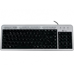 Teclado Ps2 Multimidia ABNT II Slim 09173X