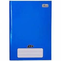 Caderno Capa Dura Brochura 96Fls 1/4 D+ Azul