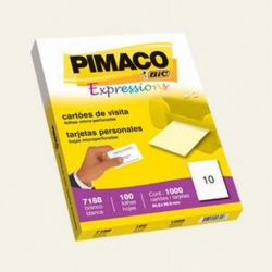 Cartao de Visita 100fls P7188 Bco Pimaco
