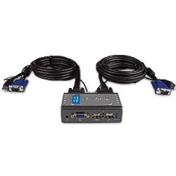 Chaveador KVM  2x1 USB c/ cabos D-link
