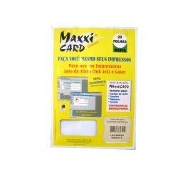 Papel A4 Cartão Bco Liso Modelo E MaxxiCard