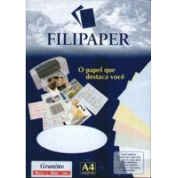 Papel A4 180g 50fls Granitto Blue Filipaper
