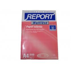 Papel A4  75g 500fls Rosa Report
