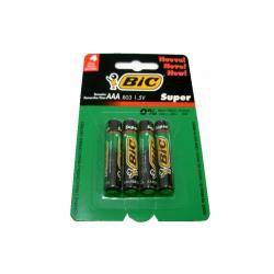 Pilha AAA Super 4ud Super Bic