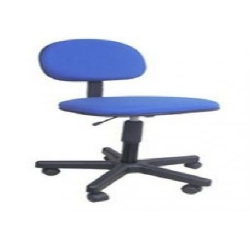 Cadeira Secretaria s/Braco Tecido Azul