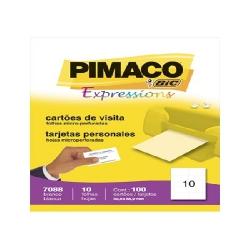 Cartao de Visita  10fls P7088 Bco Pimaco