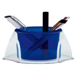Porta Canetas Azul/Cristal DxL3020.C