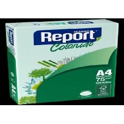 Papel A4  75g 500fls Verde Report