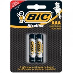 Pilha AAA Alcalina 2un Bic
