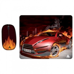 Mouse Usb c/Pad-Mouse Carro xCn06321