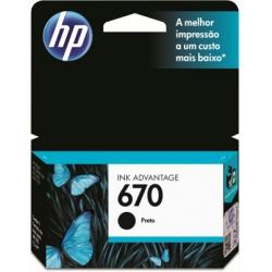 Cartucho HP. CZ113A 670A Preto 7ML Orig