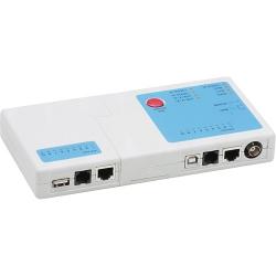 Testador Cabo RJ45/RJ11/USB Multifuncional Mtc